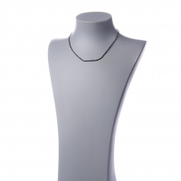 Collana Corta Unisex in Diamanti neri ed Ag 925