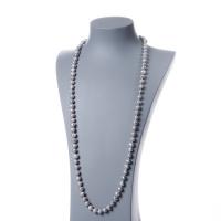 Collana di Perle Grigie d' Acqua dolce tonde