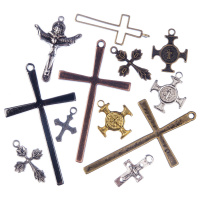 Pendenti a Croce in Stile Tibetano colori e misure varie (Mix) - 8 pz.