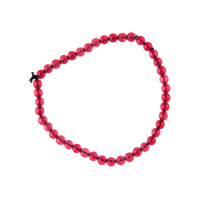 Bracciale Giada Rossa, elastico, sfere 4mm