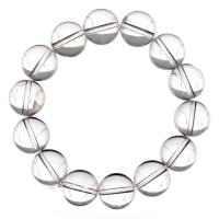 Bracciale Cristallo di Rocca, elastico, sfere 14mm