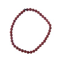 Bracciale Diaspro Rosso, elastico, sfere 4mm