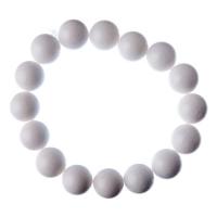 Bracciale Giada Bianca, elastico, sfere 12mm