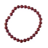 Bracciale Diaspro Rosso, elastico, sfere 6mm