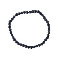 Bracciale Ossidiana, elastico, sfere 4mm
