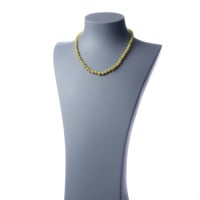 Collana corta Giada Lemon e Ag 925, sfere 6mm