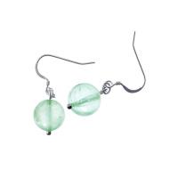 Orecchini a sfere di Fluorite Verde 12mm e Argento 925