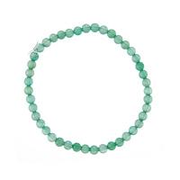 Bracciale Avventurina Verde, elastico, sfere 4mm