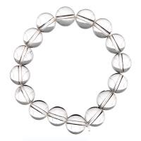 Bracciale Cristallo di Rocca, elastico, sfere 12mm