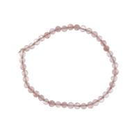 Bracciale Quarzo Rosa, elastico, sfere 4mm