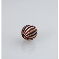 Pallina Tessuto - Filo bianco marrone - 1 pz.