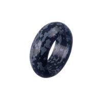 Anello All Stone in Ossidiana Fiocco di Neve - Medium