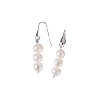 Orecchini di Perle bianche d'Acqua dolce e Ag 925