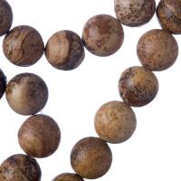 Pietra Paesina - Filo di sfere lisce da 12mm