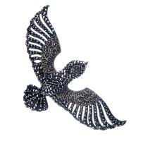 Ciondolo Aquila in Spinello nero e Ag. 925